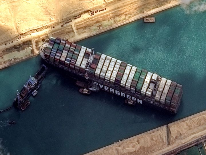 Container Ship Stuck In Suez Canal Gives Way To Massively Funny Tweets