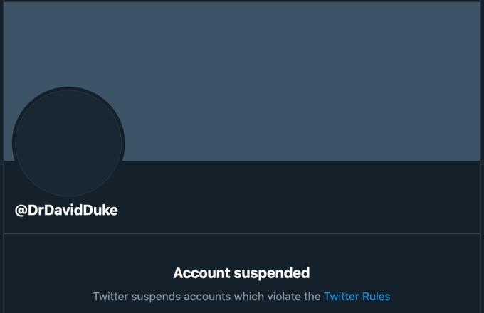 Twitter finally bans former KKK leader, David Duke