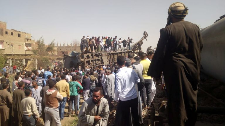 At least 32 people killed after two trains collide in Egypt